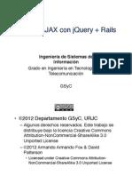16 DOM AJAX Con JQuery Rails