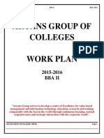Work Plan BBA-II, best bba college in chandigarh