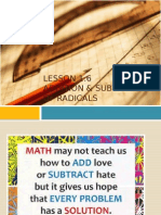 g9l1 6 addition & subtraction of radicals