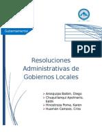 Resoluciones Administrativas de Gobiernos Locales