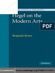 [Benjamin Rutter] Hegel on the Modern Arts