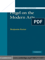 [Benjamin Rutter] Hegel on the Modern Arts