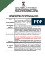 Calendario e Estrutura Do Tcc 2015.1-1