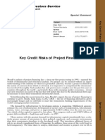 Moody's - Key Credit Risks of Project Finance (1998)