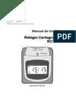 Manual Relógio Cartográfico ZPM RC1000 - R10