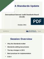 2012 IIA Standards Update