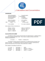 Calculation Conversion Concentration Guide