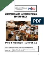 Cblm Lg Gr. 8- Tle Food Trades (Level i)