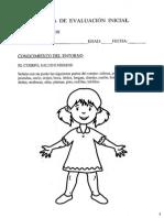 Prueba Evaluacion Inicial Inf. 5 Conocimiento Entorno