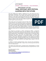 Vrystaat Arts Festival Media Release 7 July 2015