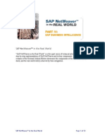 SAP NetWeaver in the Real World, Part 4 - SAP Business Intelligence