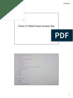 Chem 17 Mock Exam Answer Key