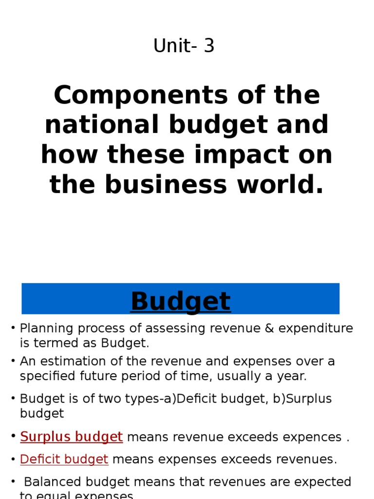 budget 1 government budget balance fiscal policy