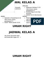 Jadwal Ngampus Semester III