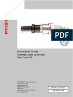 Pfisterer Inner Cone Plugs Size 3 33kV 1250A 50 630sqmm Installation Instruction