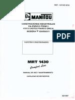 Manitou MRT 1430 Manual
