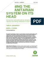 Turning the Humanitarian System on its Head