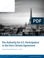 The Authority for U.S. Participation in the Paris Climate Agreement