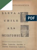 1948- La Ley Anticomunista.- Discursos de Lafertte y Contreras Labarca