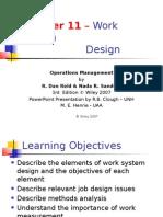 Chapter 11 – Work System Design