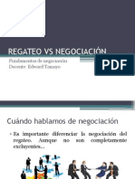 6. Negociación vs Regateo
