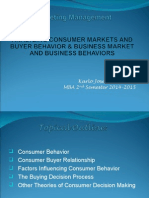 Analyzing Consumer Markets and Buyer Behavior