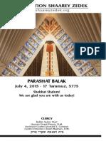 July4, 2015 Shabbat Card
