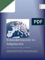 Estandarizacion vs Adaptación Evidencia 5