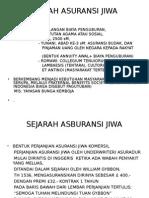 SEJARAH ASURANSI JIWA