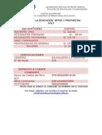 Costos y Certificación Congreso 2015