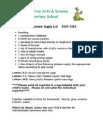 douglas kindergarten supply list 1516