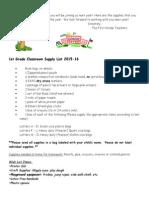 douglas 1st grade supply list 15-16