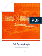Cyclic Symmetry Analysis