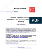 (1993) the Rise and Fall of Audience Research - an Old Story With a New Ending