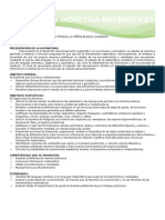 Formato de Planeación Didáctica Matemáticas de Secundaria