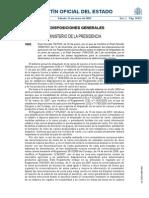 Decreto 75-2009 Modifica Decreto 1698-2003