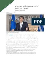 Los Analistas Extranjeros Ven Cada Vez Más Cerca Un Grexit