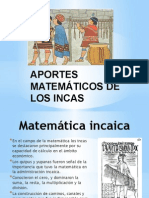 Aportes de Matemáticos de Los Incas