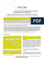 Fabricación y Caracterización de Membranas Cerámicas