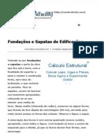Fundações e Sapatas de Edificações _ ConstruFácil RJ