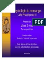 Cours 10a Psychologie Du Mensonge