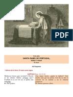 Vísperas gregorianas de santa Isabel de Portugal, reina y viuda. 8 de Julio