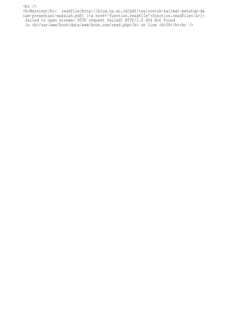 Contoh Kalimat Penutup Dalam Presentasi Makalah | Internet ...