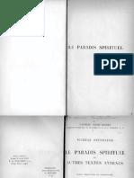 Texte, Traduct Commentaire Par M. Chalendard-Nicetas Stethatos. Le Paradis Spirituel Et Autres Textes Annexes. (Sources Chrétiennes 008)