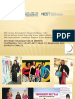 Internationalization of Luxury:Comparing the Luxury Attitudes of Brazilian and Emirati Females