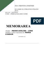 Procesul de Memorare