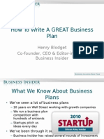 How To Write A GREAT Business Plan