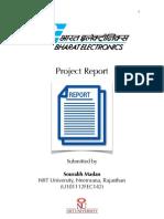 BEL Report by Sourabh Madan