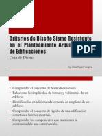 Criterios de Diseño Sismo Resistente en El Planteamiento Arquitectónico