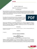 Decreto 24-99 Ley de Fondo de Tierras